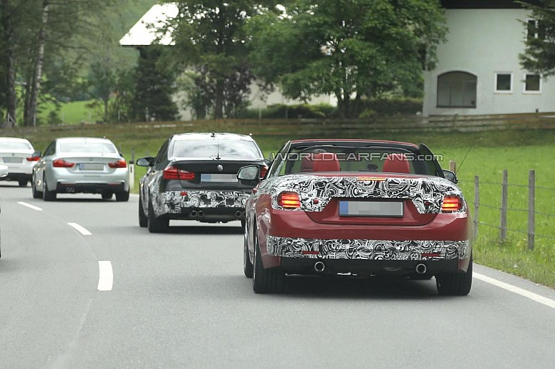 2014 BMW M3 and 4-Series Convertible spied together