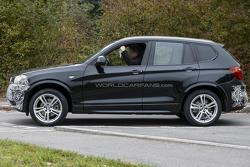 BMW X3 facelift spy photo 15.10.2012 / Automedia