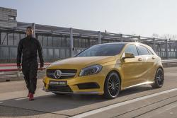 Usher with the Mercedes A45 AMG 04.3.2013
